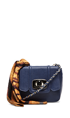 Love Moschino I Love Scarf Shoulder Bag in Navy