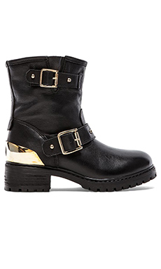 Love Moschino Heart Romance Boot in Nero Black Calf