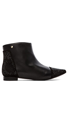 Love Moschino Strass Effect Bootie in Nero