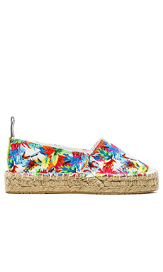 Love Moschino Jungle Flat in White