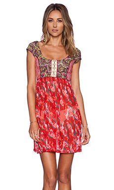 Maaji Rosy Horsey Mini Dress in Red & Multi