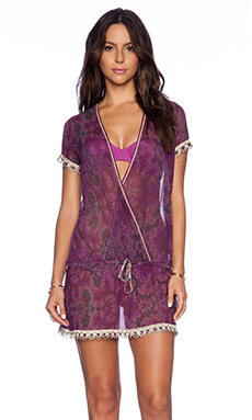 Maaji Tie Front Dress in Violet Danza!
