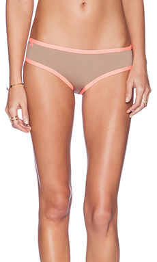 Maaji Fancy Mustang Bikini Bottom in Taupe & Coral