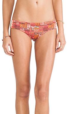 Maaji Bikini Bottoms in Tangerine Caravan