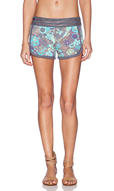 Maaji Don Pom Pom Short in Dusty Purple & Aqua