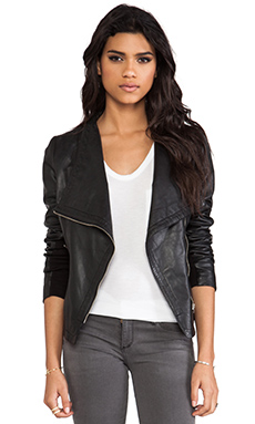 Mackage Pina Classic Leather Jacket in Black