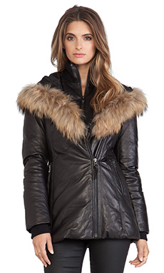 Mackage Ingrid Jacket with Fur in Black