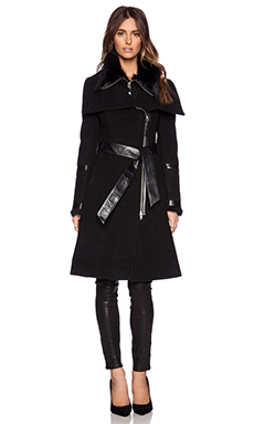 Mackage Isabel Jacket with Fur in Black
