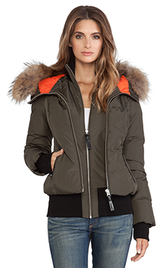Mackage Romane Jacket with Fur in Army