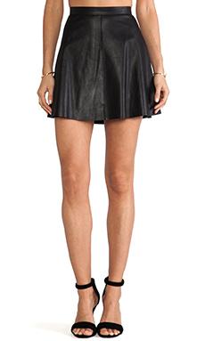 Mackage Violca Leather Skirt in Black