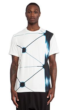 Maharishi Mimic Shibori Slouch T-Shirt in Maha White