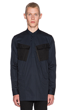 Maharishi Travel Kurta L/S Shirt in Black & Navy