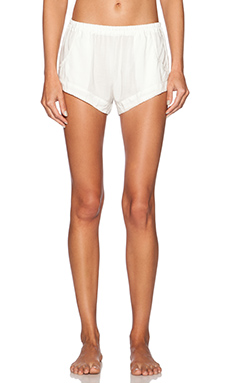 MAISON DU SOIR Jane Short in Grey Stripe