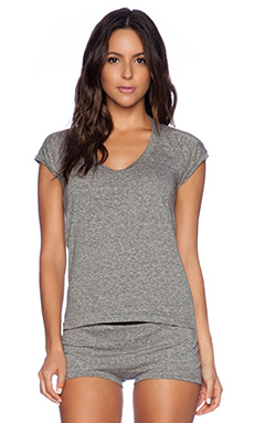 MAISON DU SOIR Camille Tee in Heather Grey