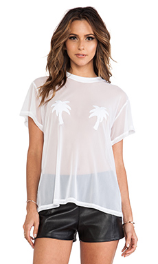 MINIMALE ANIMALE Golden Triangle Tee in Bright White