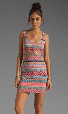 Mara Hoffman Lattice Mini Dress in Frida Coral