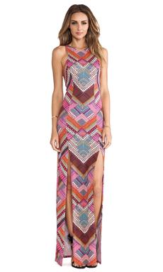 Mara Hoffman High Slit Maxi Dress in Kasuri Pink