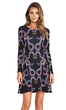 Mara Hoffman Ballerina Dress in Snakes Black