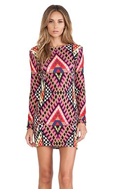 Mara Hoffman Deep V Mini Dress in Bazaar Pink