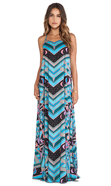 Mara Hoffman Camisole Gown in Lunar Eclipse Turquoise