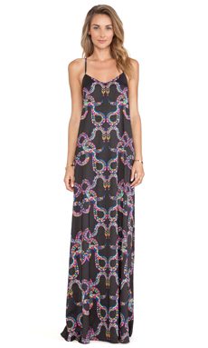 Mara Hoffman Camisole Gown in Snakes Black