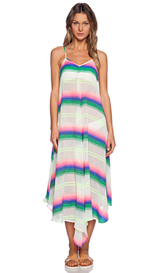 Mara Hoffman Maxi Dress in Rainbow Stripe Gauze