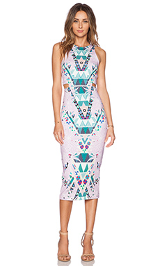 Mara Hoffman Cut Out Midi Dress in Maristar Lilac