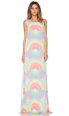 Mara Hoffman Open Back Maxi Dress in Electrolight Stone