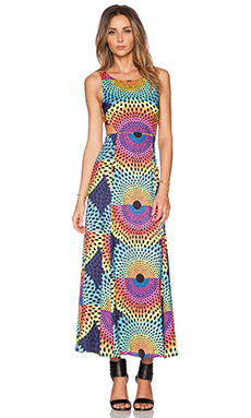Mara Hoffman Cut Out Maxi Dress in Electrolight Blue