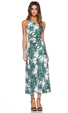 Mara Hoffman Cut Out Tie Back Maxi Dress in Harvest