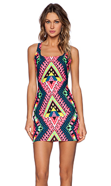 Mara Hoffman Racerback Mini Dress in Horizon Green