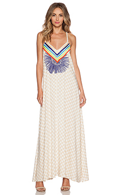 Mara Hoffman Embroidered Maxi Dress in Vanster Stone