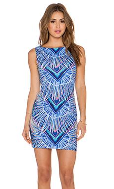 Mara Hoffman Cut Out Back Dress in Rising Palm Blue