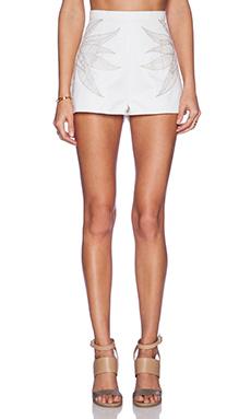 Mara Hoffman Embroidered Denim Short in White