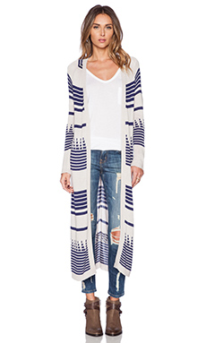 Mara Hoffman Knit Cardigan in Wave Stripe
