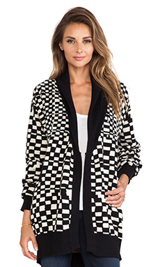 Mara Hoffman Cardigan in Checkers