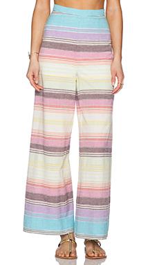 Mara Hoffman Wide Leg Pant in Rainbow Stripe
