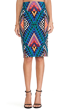 Mara Hoffman High Waisted Pencil Skirt in Bazaar Blue