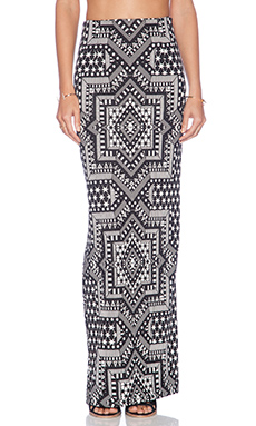 Mara Hoffman High Waisted Maxi Skirt in Star Jacquard