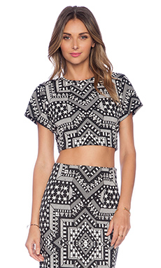 Mara Hoffman Crop Top in Star Jacquard