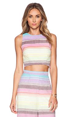 Mara Hoffman Crop Top in Rainbow Stripe