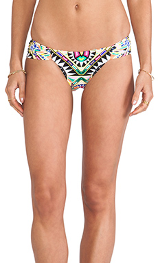 Mara Hoffman Ruched Side Bottom in Cosmic Fountain Black