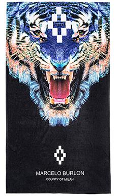 Marcelo Burlon Tiger Towel in Black