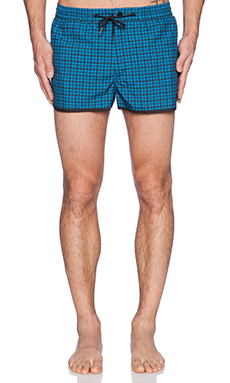 Marc by Marc Jacobs Printed Houndstooth Swim Shorts in Aquamarine