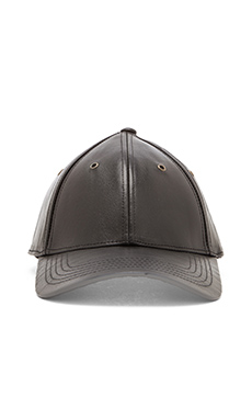 Marc by Marc Jacobs Leather Cap in Black