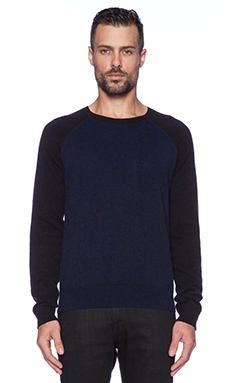 Marc by Marc Jacobs Colorblocked Cashmere Sweater in Ink Blue Multi