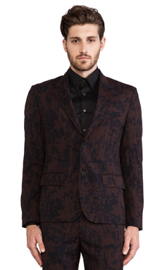 Marc by Marc Jacobs Sonny Suiting Blazer in Deep Beet Multi