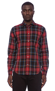 Marc by Marc Jacobs Rodney Plaid Button Down in Black Multi