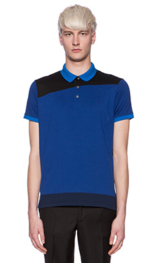 Marc by Marc Jacobs Colorblocked Polo in Mazarine Blue Multi