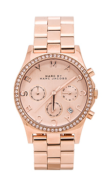 Marc by Marc Jacobs Henry Chrono Watch in Rose Gold